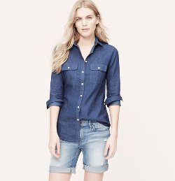 Loft - Chambray Softened Shirt