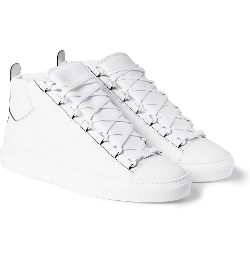Balenciaga - Arena Leather High Top Sneakers