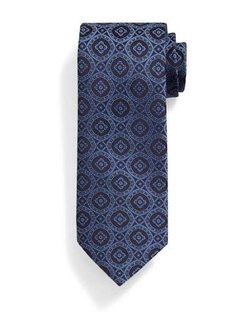 Stefano Ricci - Medallion-Print Silk Tie