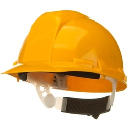 AT&T - Construction Safety Helmet - Yellow Fits Upto Xl
