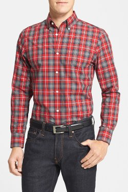 Nordstrom - Wrinkle Free Regular Fit Plaid Sport Shirt