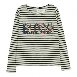 Leon & Harper - Bloom Trunks Striped T-Shirt Ecru