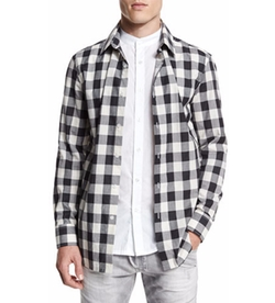 Pierre Balmain - Double-Layer Check Long-Sleeve Shirt