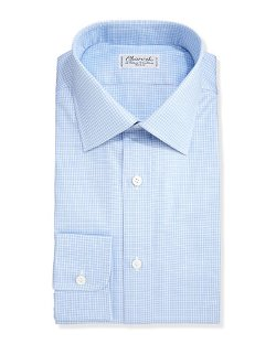 Charvet	  - Grid Check Dress Shirt
