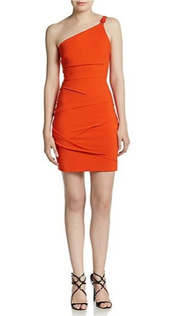 Versace  - Pleated One-Shoulder Jersey Dress