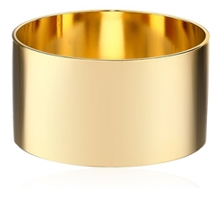 A.V. Max  - Gold Plain Bangle Bracelet