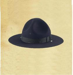 Felt Campaign Hat  - Adjustable Leather Chinstrap