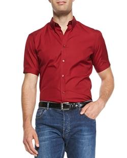 Alexander Mcqueen - Short-Sleeve Poplin Shirt