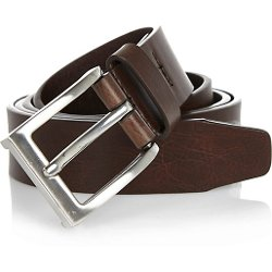River Island - Brown Basic Silver Buckle Belt