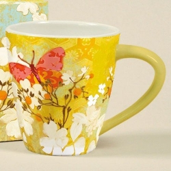 Lang - Saffron Butterfly Cafe Mug