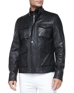 Michael Kors - Pebbled Leather Jacket