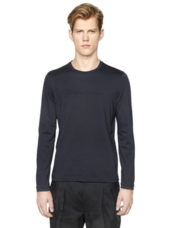 Giorgio Armani - Studded Signature Cotton T-Shirt