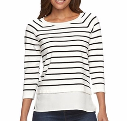 Apt. 9 - Raglan Mock-Layer Sweater
