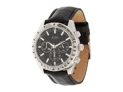Guess - Leather Strap Waterpro Watch