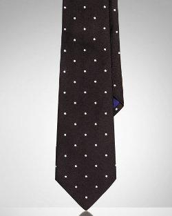 Ralph Lauren Purple Label - Polka-Dot Silk Satin Tie