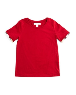 Burberry - Tulisa Check-Cuff Jersey T-Shirt