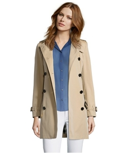 Burberry - Cotton Twill Double Breasted Trench Coat