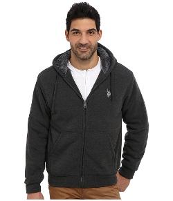 U.S. Polo Assn.  - Sherpa Lined Full Zip Fleece Hoodie