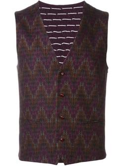 Etro - Zig Zag Pattern Waistcoat