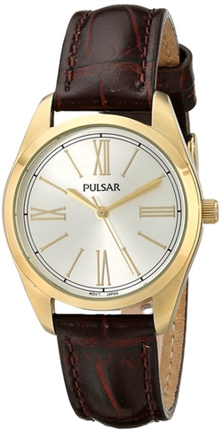 Pulsar - Japanese Quartz Brown Watch