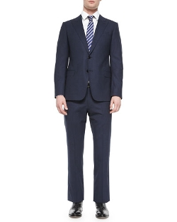 Armani Collezioni - S-Line Mini-Check Two-Button Suit
