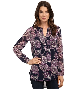 Lucky Brand - Paisley Pleated Tunic Blouse