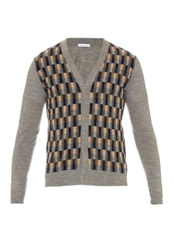 Tomas Maier - Checked-Front Wool Cardigan