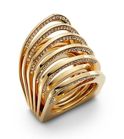 Vita Fede - Futuro Pavé Crystal Cut Ring