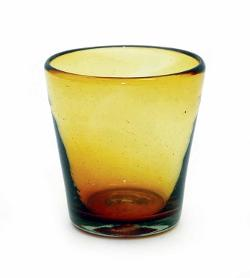 Laredo Import - Handmade Mexican Amber Tapered Rocks Glasses,
