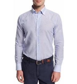 Peter Millar - Chambray Striped Sport Shirt
