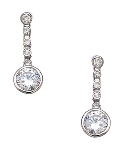 Tang And Song  - Dangling Diamond Drop Earrings