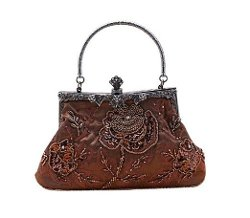 Dealkiller Fashion Bag  - Womens Antique Floral Clutch Purse Wallet Handbag