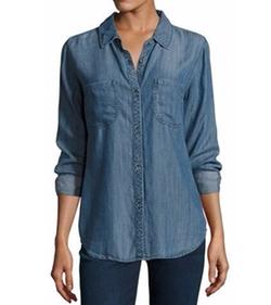 Rails - Carter Button-Front Chambray Shirt