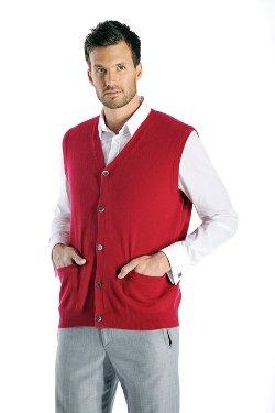Cashmere Boutique - Cashmere Sleeveless Cardigan Vest