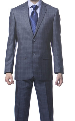 Ferrecci - Slim Fit Plaid Suit