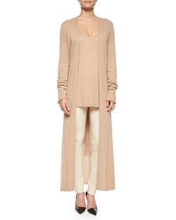 The Row  - Mila Cashmere-Silk Long Cardigan Coat