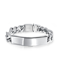 Bling Jewelry - Figaro Chain Link Id Bracelet