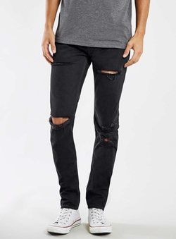 Topman - Knee Blow Out Skinny Jeans