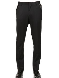 Givenchy  - Belted Wool Twill Trousers