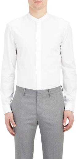 Maison Margiela  - Mandarin Collar End-on-End Shirt