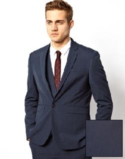 ASOS - Slim Fit Suit Jacket in Blue