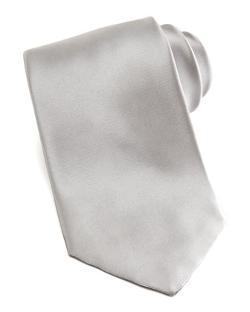 Armani Collezioni  - Solid Satin Tie, Silver