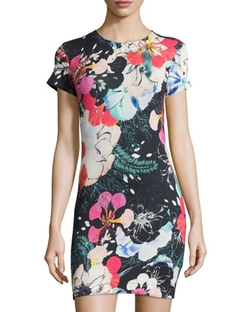 French Connection   - Floral Short-Sleeve Sheath Dress