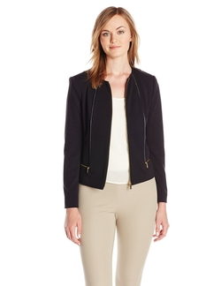 Calvin Klein - Zip-Front Ponte Jacket
