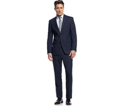 Kenneth Cole - Slim-Fit Blue Pinstriped Suit