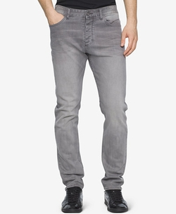 Calvin Klein Jeans  - Tapered Gray Fog Knitago Pants