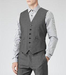 Hazzard W - Wool Blend Waistcoat Vest