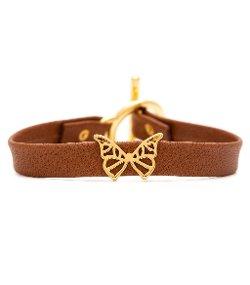 Gorjana - Butterfly Cut Out Leather Bracelet