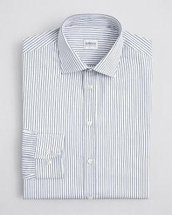 Armani Collezioni - Stripe Honeycomb Dress Shirt