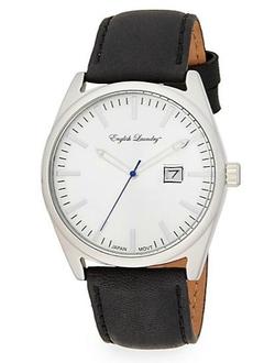 English Laundry - Black Leather Strap Watch